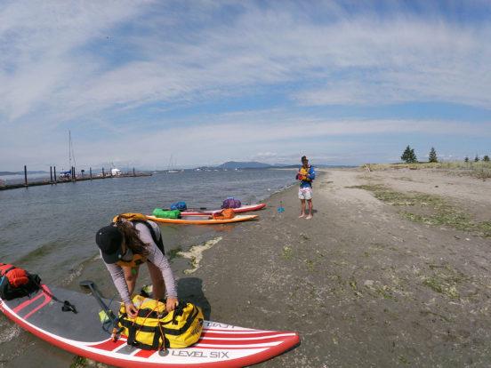 Paddleboarding near Sidney Island, BC