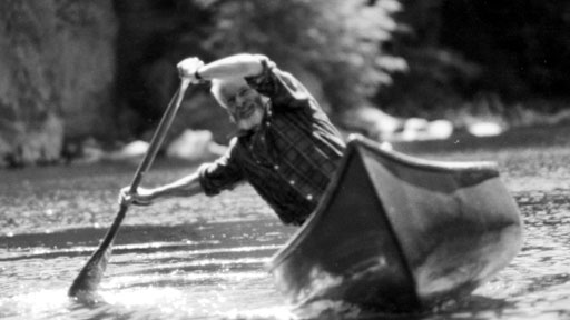 Bill Mason solo canoeing.