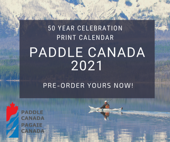 The front cover of the 2021 Paddle Canada calendar.