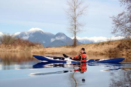 Mike Gilbert in his kayak.