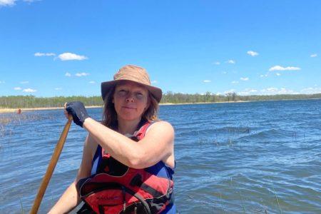 Pauline canoeing